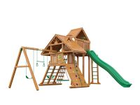 Деревянная детская площадка IgraGrad Крепость Фани Deluxe +