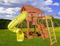 Игровая площадка Playgarden SkyFort Deluxe II с горкой и горкой трубой и с манки-баром