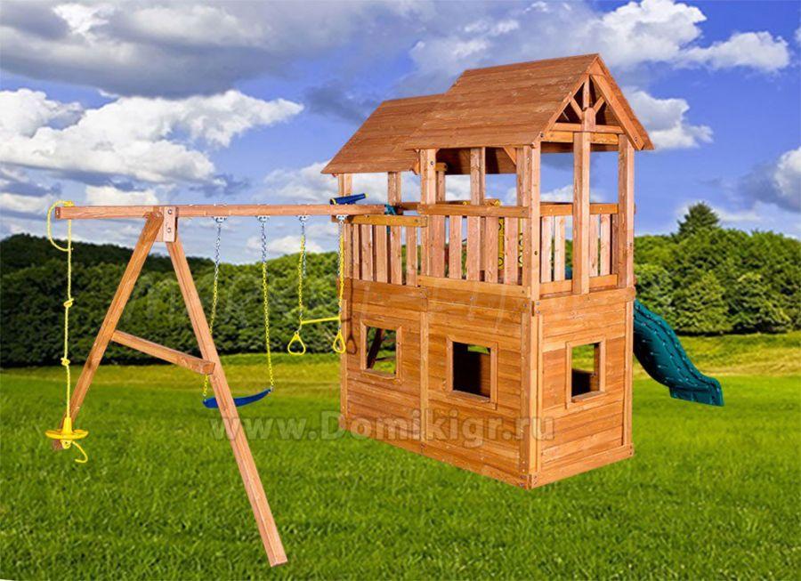 Игровая площадка Playgarden SkyFort стандарт c закрытым домиком