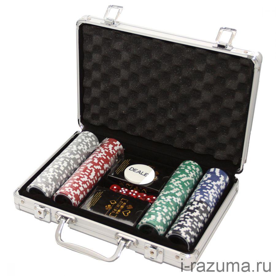 Покерный набор на 200 премиум-фишек  «Фабрика покера» (фишка 11,5 гр./алюминиевый кейс)