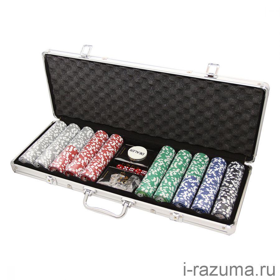 Покерный набор на 500 премиум-фишек «Фабрика покера» (фишка 11,5 гр./алюминиевый кейс)