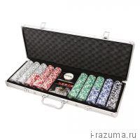 Покерный набор на 500 фишек «Фабрика покера» (фишка 11,5 гр./алюминиевый кейс)