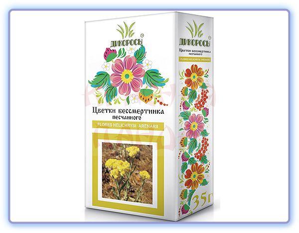 Цветки Бессмертника песчаного Дикоросы