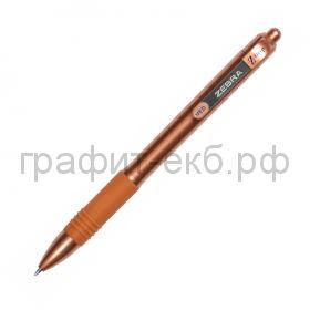 Ручка шариковая Zebra Z-GRIP Smooth пудровый перламутровый синяя 1мм