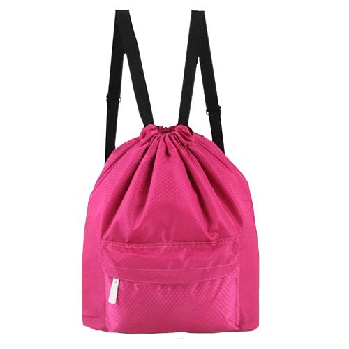 Пляжная сумка-рюкзак с отделением для мокрых вещей, 30 х 40 см. Цвет: розовый.