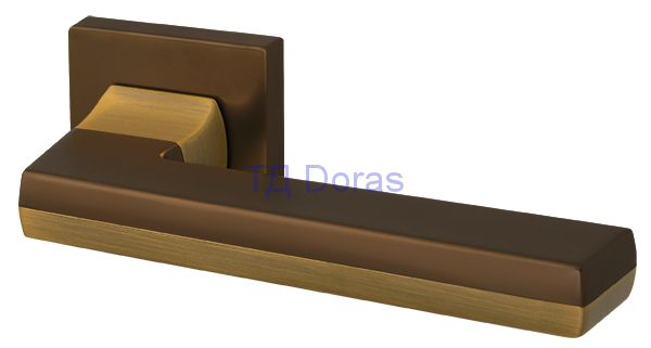 Ручка раздельная GROOVE USQ5 BB/SBB-17 Кор бронза/мат кор бронза