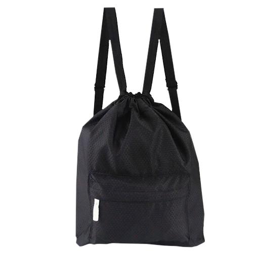 Пляжная сумка-рюкзак с отделением для мокрых вещей, 30 х 40 см. Цвет: черный.
