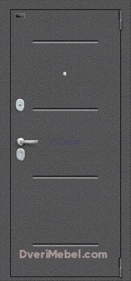 Стальная дверь Porta S 104.П22 Антик Серебро/Cappuccino Veralinga