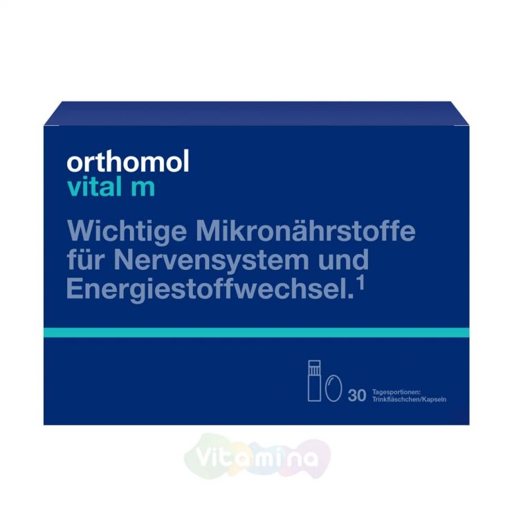 Ортомол Витал М Для представителей сильной половины (жидкость/капсулы)