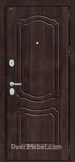Стальная дверь Groff P3-301 П-28 Темная Вишня