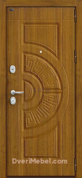 Стальная дверь Groff P3-302 П-4 Золотой Дуб
