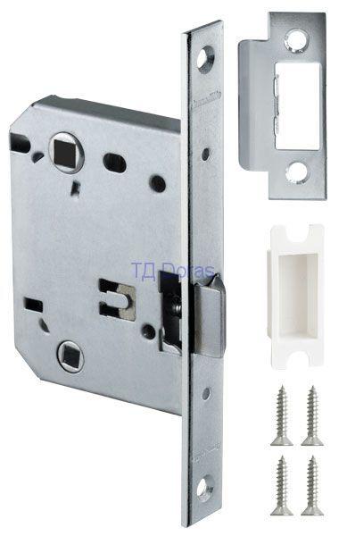 Защелка врезная Armadillo (Армадилло) под завертку LH 720-50 CP-8 Хром BOX на 70мм /прям/