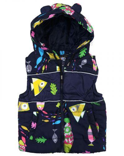 Жилетка с капюшоном для девочек 1-4 лет Bonito OP037J