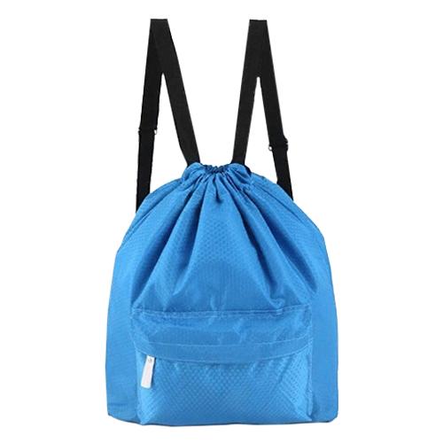 Пляжная сумка-рюкзак с отделением для мокрых вещей, 30 х 40 см. Цвет: голубой.