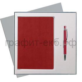 Набор Portobello Ежедневник недат.А5 Rain красный + ручка  GS-260-24-grey-b-rain