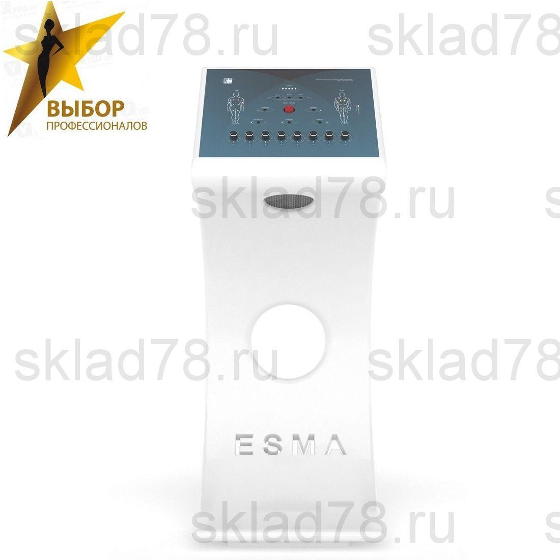 EMS профессиональный тренажер ЭСМА Фитнес 12.06.08 с фигурной белой стойкой