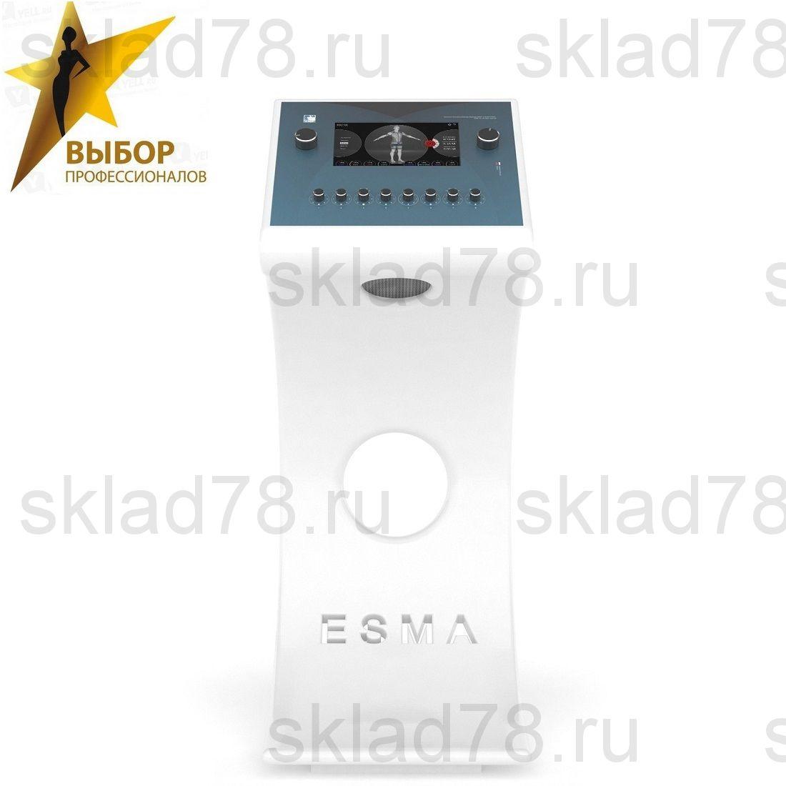 EMS профессиональный тренажер ESMA фитнес 12.06.09 с фигурной белой стойкой
