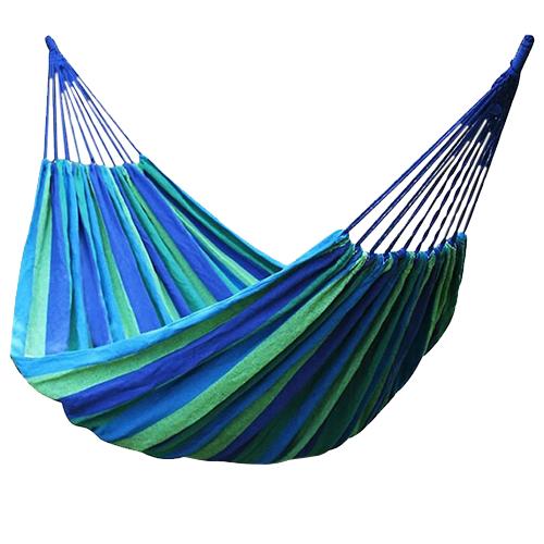 Синий полотняный гамак, 180 х 80 см.
