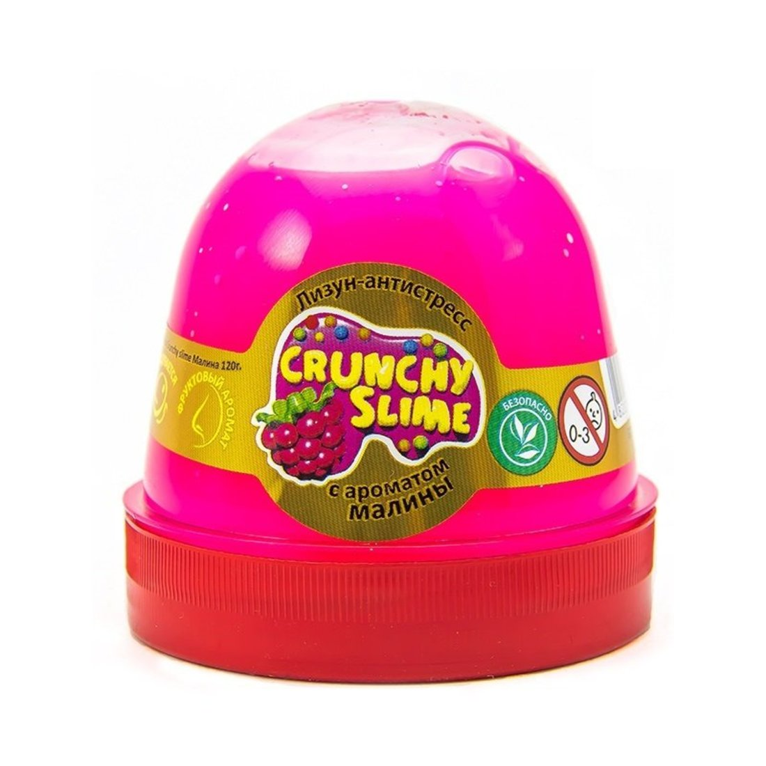 Слайм Mr.Boo Crunchy slime Малина, 120 гр