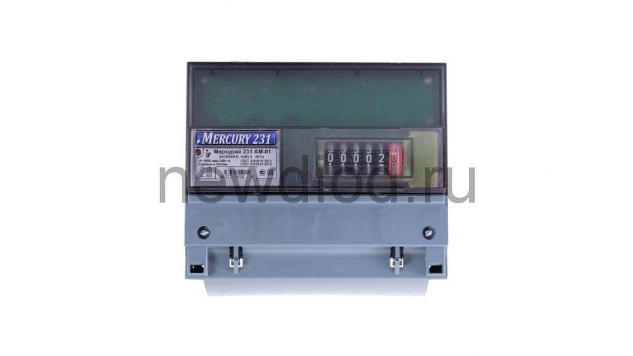 Электросчетчик Меркурий 231 АМ 5-60А/220В 3Ф 1Т 1класс на DIN-рейку