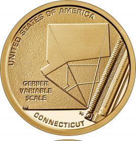 Переменная шкала Гербера .Коннектикут 1 доллар США  2020 Инновации Монетный двор на выбор