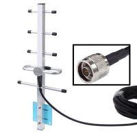 Направленная антенна GSM 900/1800 МГц 12 дБ с кабелем 10 метров внешняя стационарная