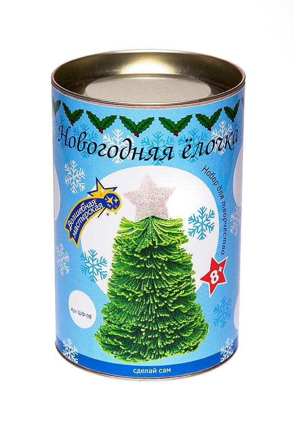 Набор для творчества ВОЛШЕБНАЯ МАСТЕРСКАЯ ШФ-08 Новогодняя ёлочка зеленая с серебряной звездой