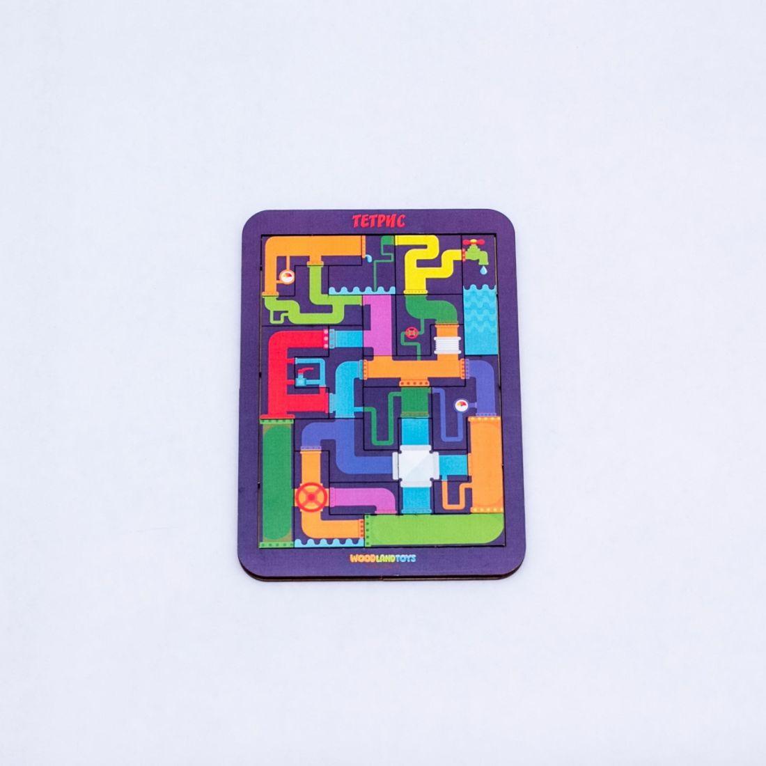 Логическая игра WOODLANDTOYS 65203 Тетрис малый Водопровод