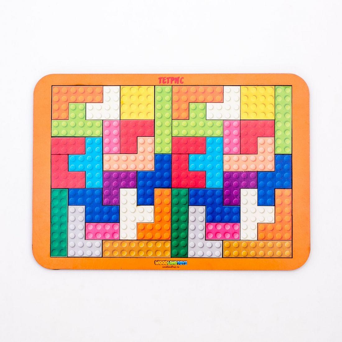 Логическая игра WOODLANDTOYS 65108 Тетрис большой Конструктор