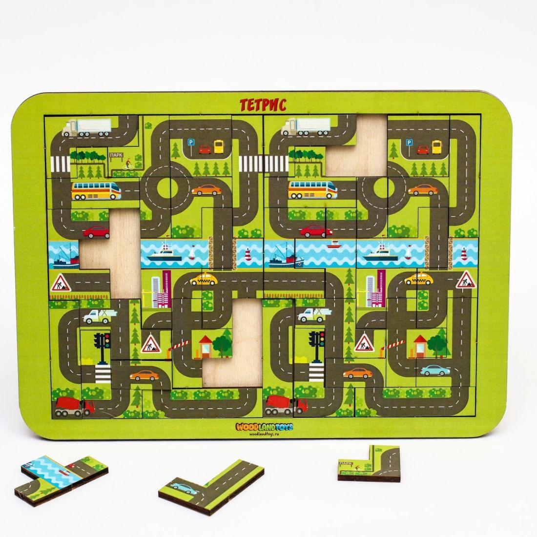 Логическая игра WOODLANDTOYS 65104 Тетрис большой Карта города