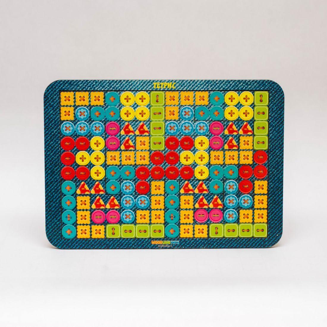 Логическая игра WOODLANDTOYS 65109 Тетрис большой Пуговки