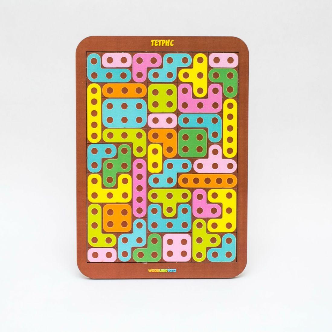 Логическая игра WOODLANDTOYS 65103 Тетрис большой Конструктор