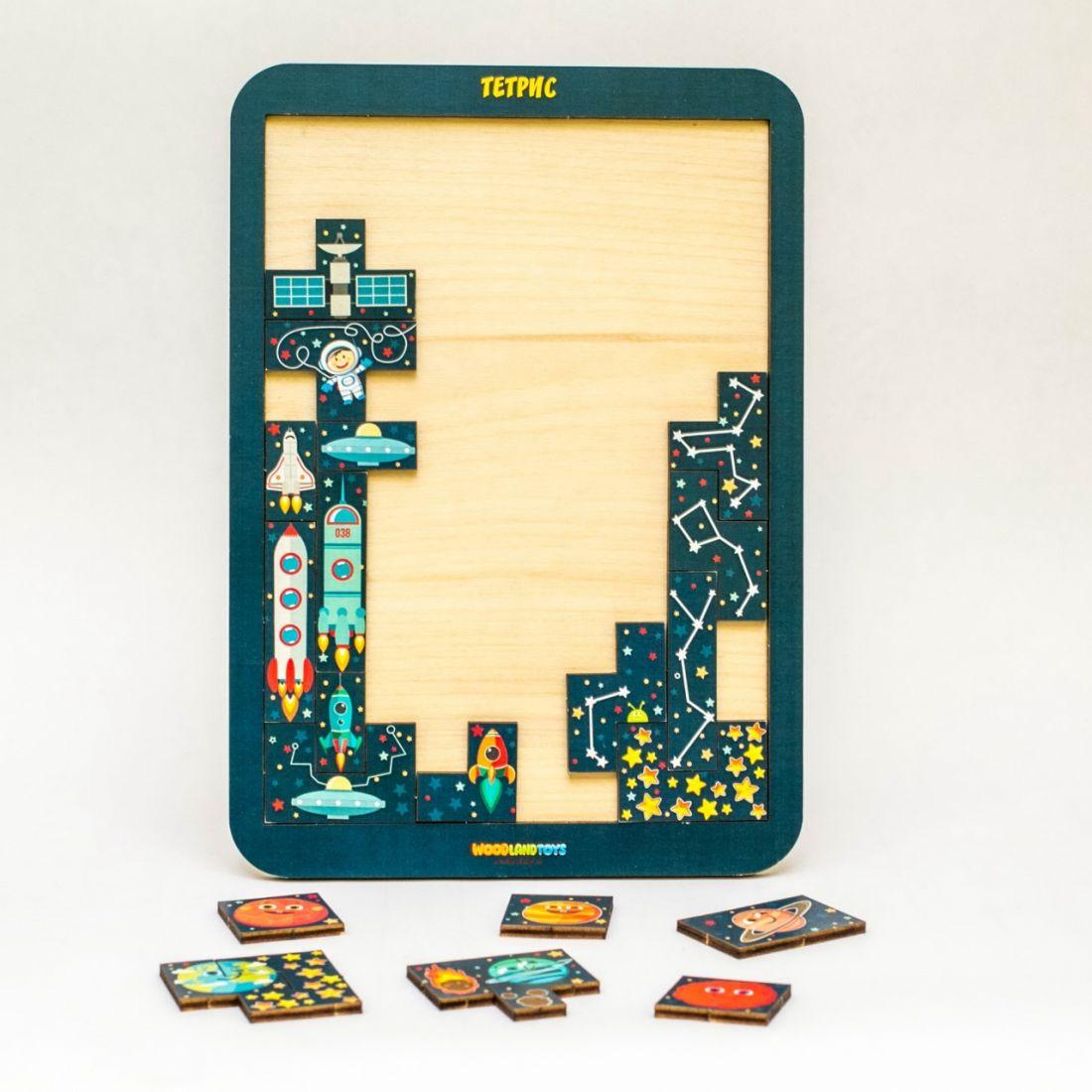 Логическая игра WOODLANDTOYS 65113 Тетрис большой Космос