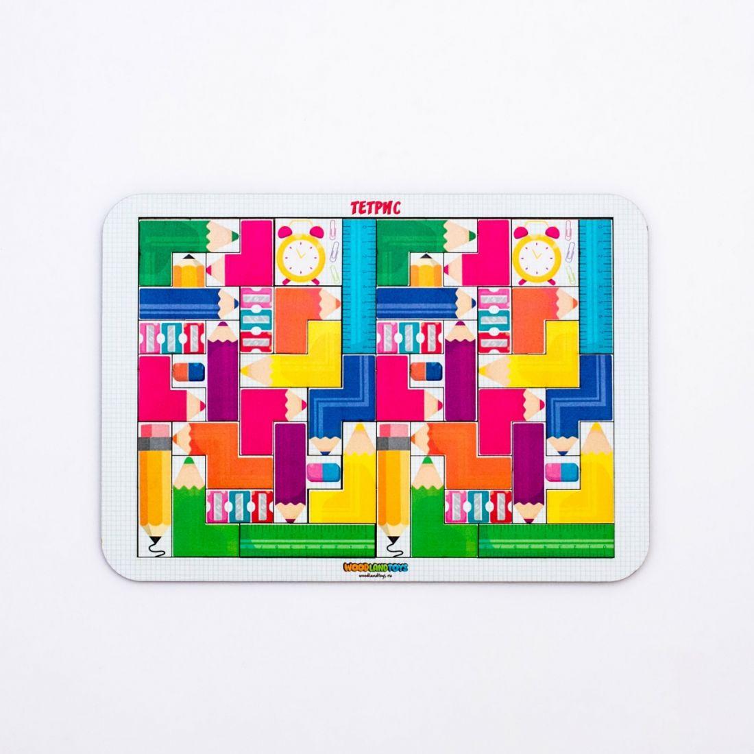 Логическая игра WOODLANDTOYS 65106 Тетрис большой Цветные карандаши