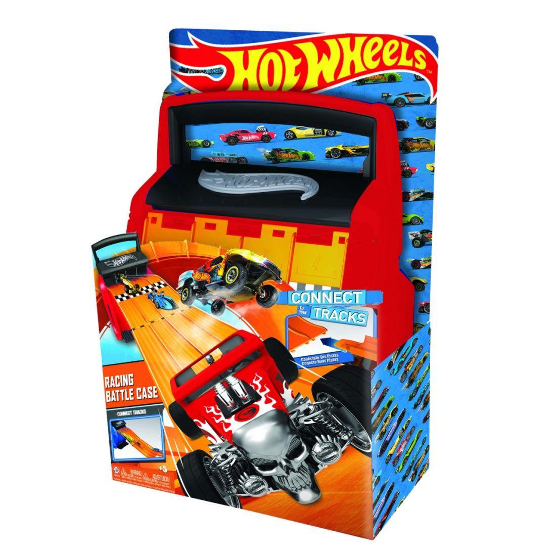 Кейс для хранения HOT WHEELS HWCC4 автотрек оранжевый