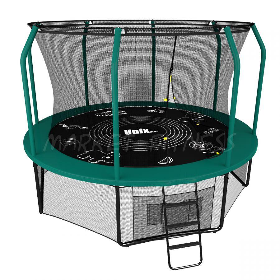 Батут UNIX SUPREME GAME 8 ft (2.44 м) green