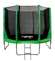 Батут OPTIFIT JUMP 16FT (4.88 м) зеленый