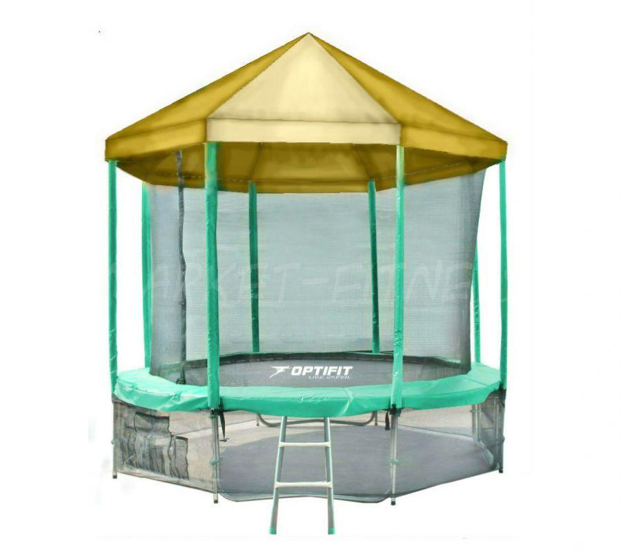 Батут OPTIFIT LIKE GREEN 10 FT (3.05 м) с желтой крышей