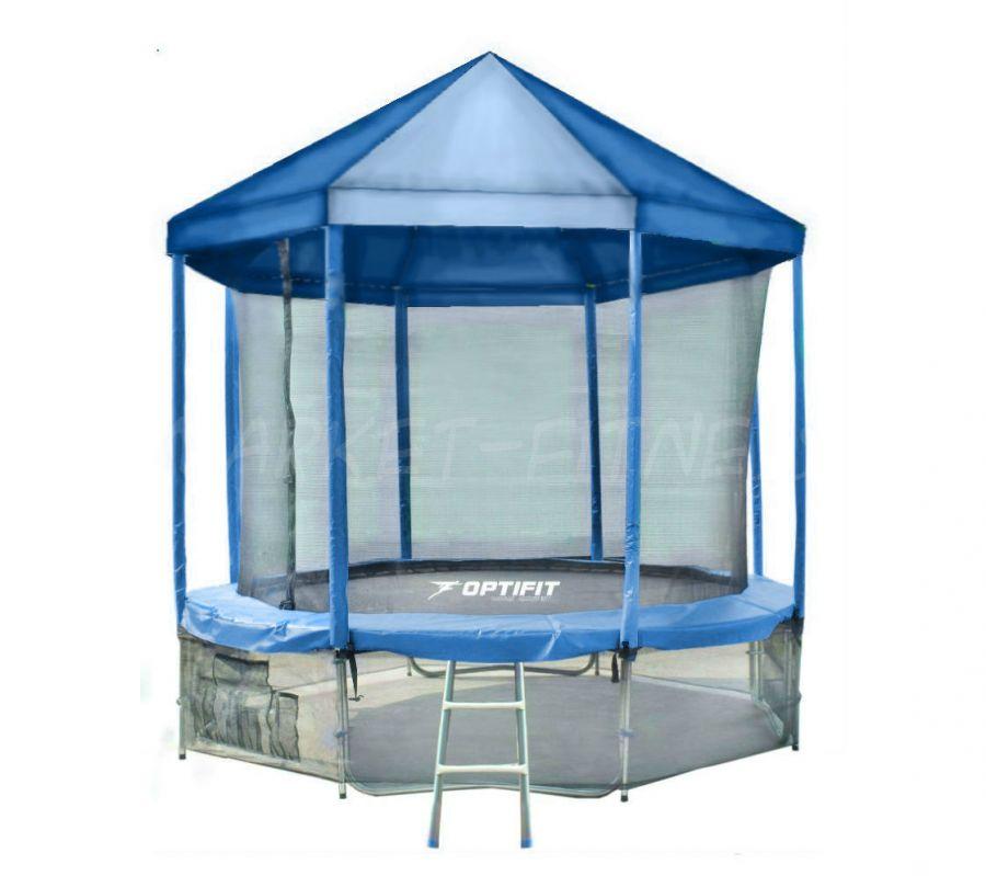 Батут OPTIFIT LIKE BLUE 12 FT (3.66 м) с синей крышей
