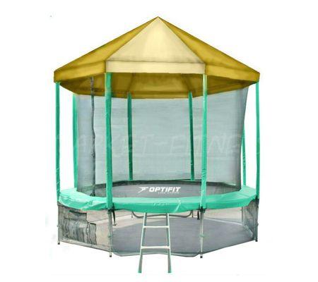 Батут OPTIFIT LIKE GREEN 14 FT (4.27 м) с желтой крышей