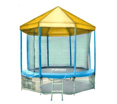 Батут OPTIFIT LIKE BLUE 14 FT (4.27 м) с желтой крышей