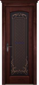Дверь Витраж структур. МАХАГОН