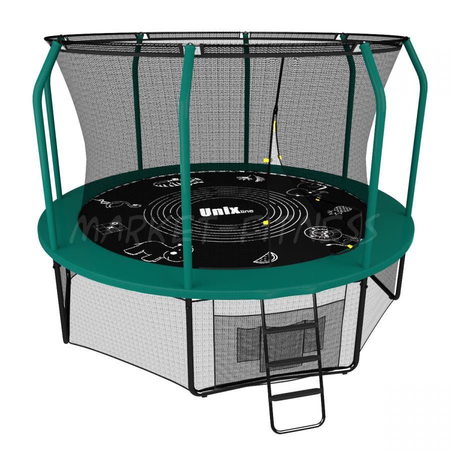 Батут UNIX SUPREME GAME 10 ft (3.05 м) green