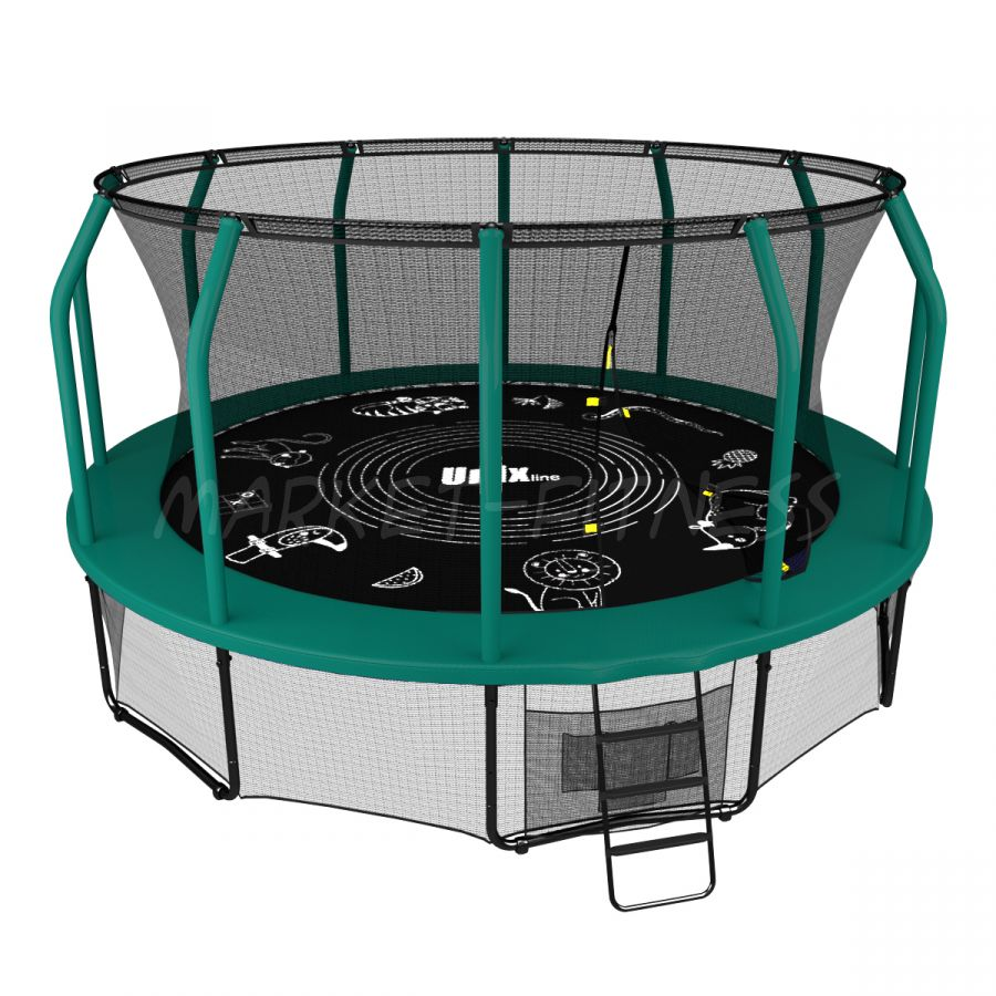 Батут UNIX SUPREME GAME 16 ft (4.88 м) green