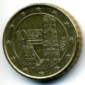 Австрия 10 евроцентов 2014