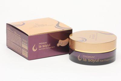 Патчи крем для кожи вокруг глаз  La Soyul Premium