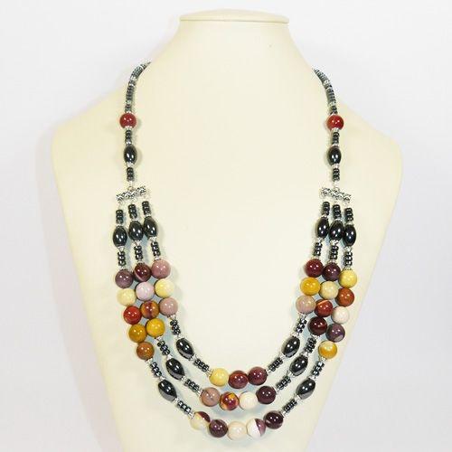 Ожерелье - Джессика - из яшмы австралийской