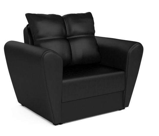 Кресло - кровать КВАРТЕТ(Амстердам) черный (экокожа)