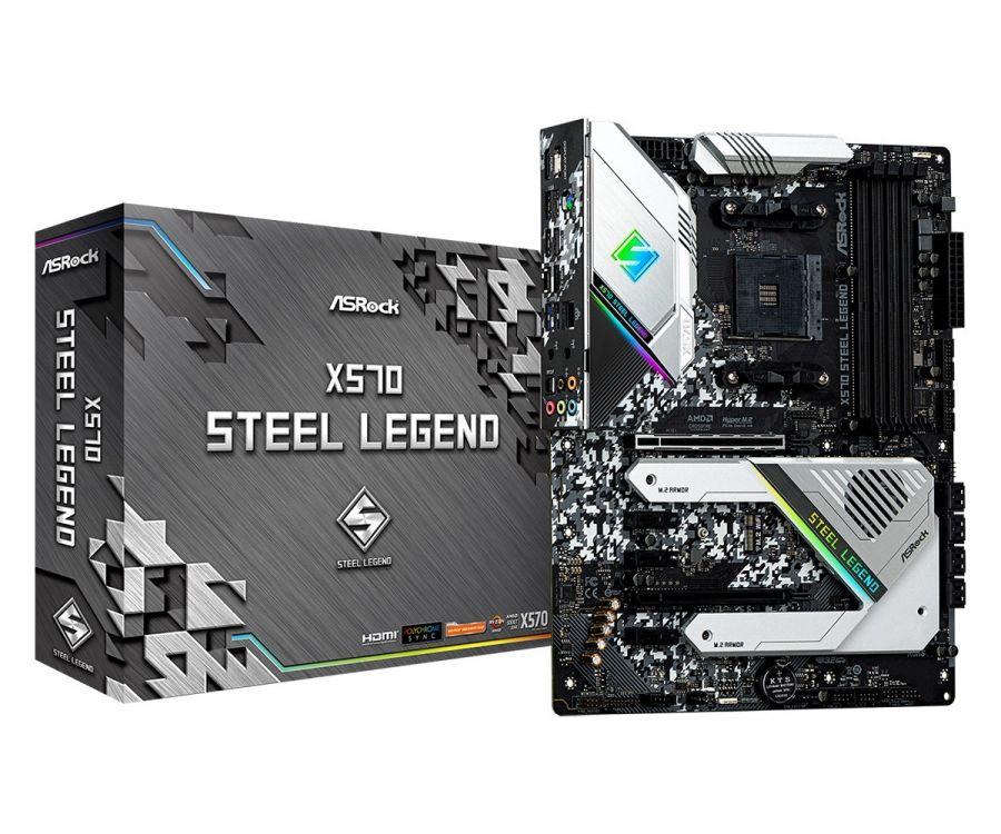 Материнская плата ASRock X570 Steel Legend Socket AM4
