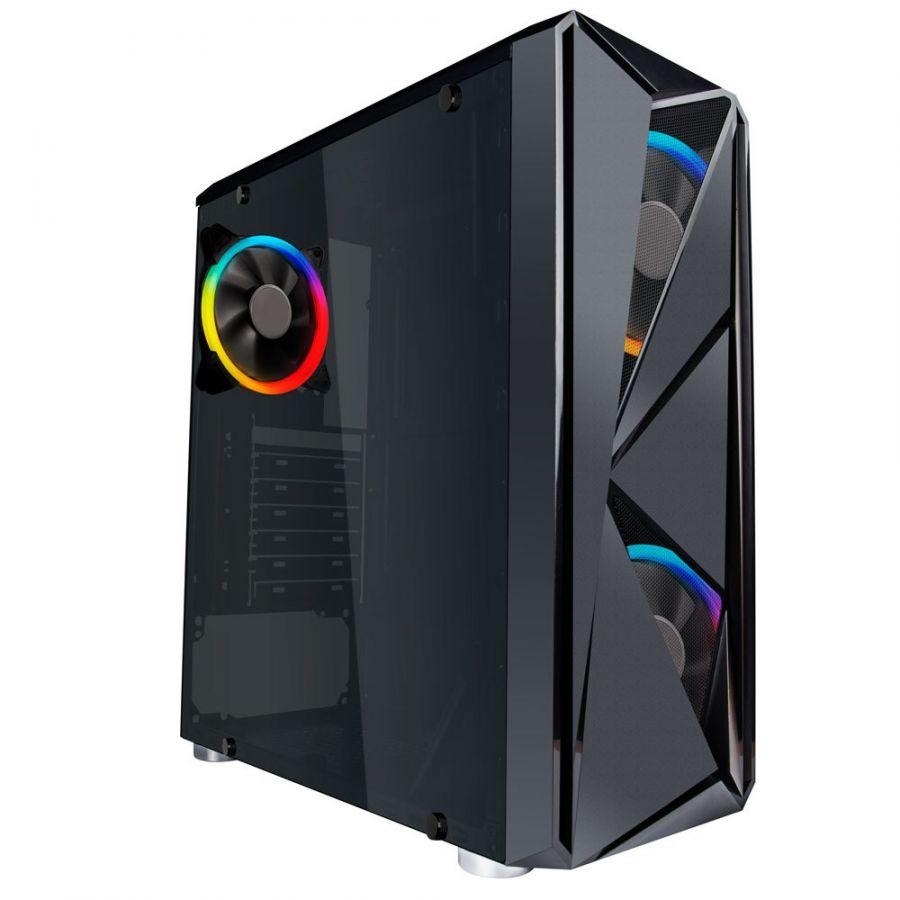 Корпус 1stPlayer F4-R2 RGB Black без БП